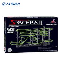 Space raill Funny Building Kit, Roller Coaster Toys Glow In The Dark Perpetual Rollercoaster 5 raill Tracks, 13500mm raill(China)