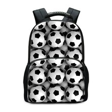 Hot Sell School Backpack Patterns for Children Socceri Printing School Bags for Boys Footbally Back Pack Sporty Student Bookbags