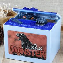 Electronic Money Saving Box Holiday Gift For Kids Piggy Bank 1 PC New Godzilla Movie Musical Moving Coin Bank.