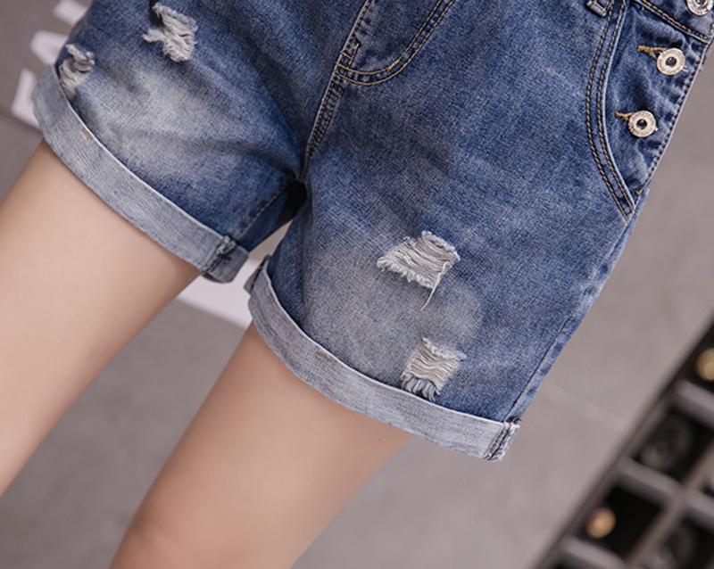 Rompers Women Jean Jumpsuit Summer Denim Playsuit Overalls Women Casual Loose Wide Leg Short Jumpsuit Plus Size Combishort Femme 15 Online shopping Bangladesh