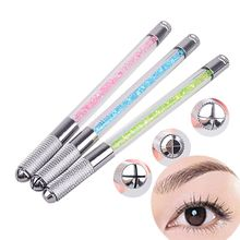 New Tattooing Pen Microblading Pen Tattoo Machine Tebori Permanent Makeup Eyebrow Tattoo Manual Pen Needle Blade Slot 2016 Hot(China)
