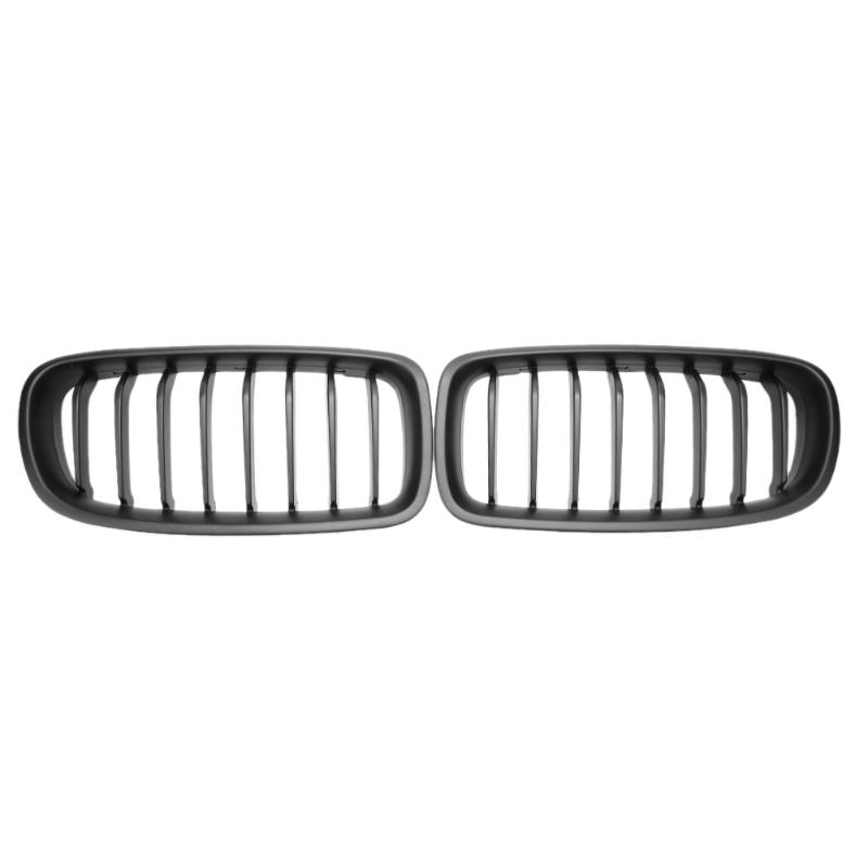 2pcs Full Gloss Black ABS Front Grille Styling Part Automobile Racing Grills for BMW F30 F31 316i 328i 335i<br>