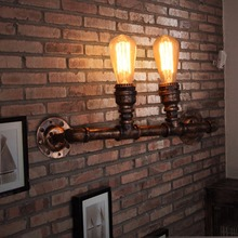 Nordic Water Pipe Loft Style Industrial Vintage Wall Lamp For Home Lamp Antique Bedside Edison Wall Sconce Indoor Lighting(China)