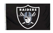 Oakland Raiders logo Flag 3x5 FT  Banner 100D Polyester NFL flag 146, free shipping