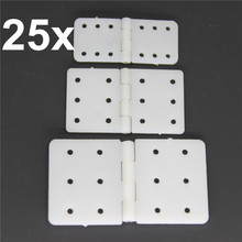 25pcs Nylon & Pinned Hinge 20x36 mm / 16x28.5 / 11x25.5 For RC Airplanes Parts Model Aeromodelling Replacement(China)