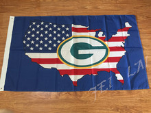 New style 3x5FT Green Bay Packers flag with American banner flag 100D Polyester NFL flag in hot sell Green Bay Packers flag