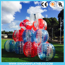 Free shipping 1.0mm TPU 1.5m diameter indoor bubble soccer,giant inflatable ball,bubble football for adults