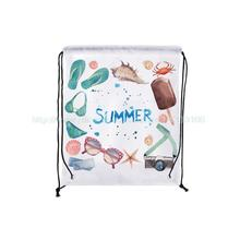 4Pcs Watercolor Summer Style Custom Fashion Outdoor Beach Gym Swimming Clothing Shoes Towel Storage Bag Drawstring Backpack