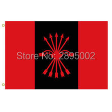 Spanish Falange of the Assemblies of the National Indoor Outdoor Flag 3' x 5' Custom metal holes Hockey Baseball Football Flag