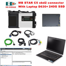 For mercedes benz star diagnosis MB STAR C5 sd connect C5 and with 2017 09 Software 240G SSD D630 laptop car diagnostics-tool