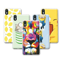 BQ X5 Plus Fruit Art Print Minions Banana Cartoon Design Case For bq Aquaris X5 Plus Case Cover Aquaris X5 Plus+Free Pen