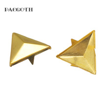 "PACGOTH Iron Based Alloy Spike Rivets Studs Triangle Bag Decorations Bag Part & Accessories 16mm x14mm( 5/8"" x 4/8""), 20 PCs"