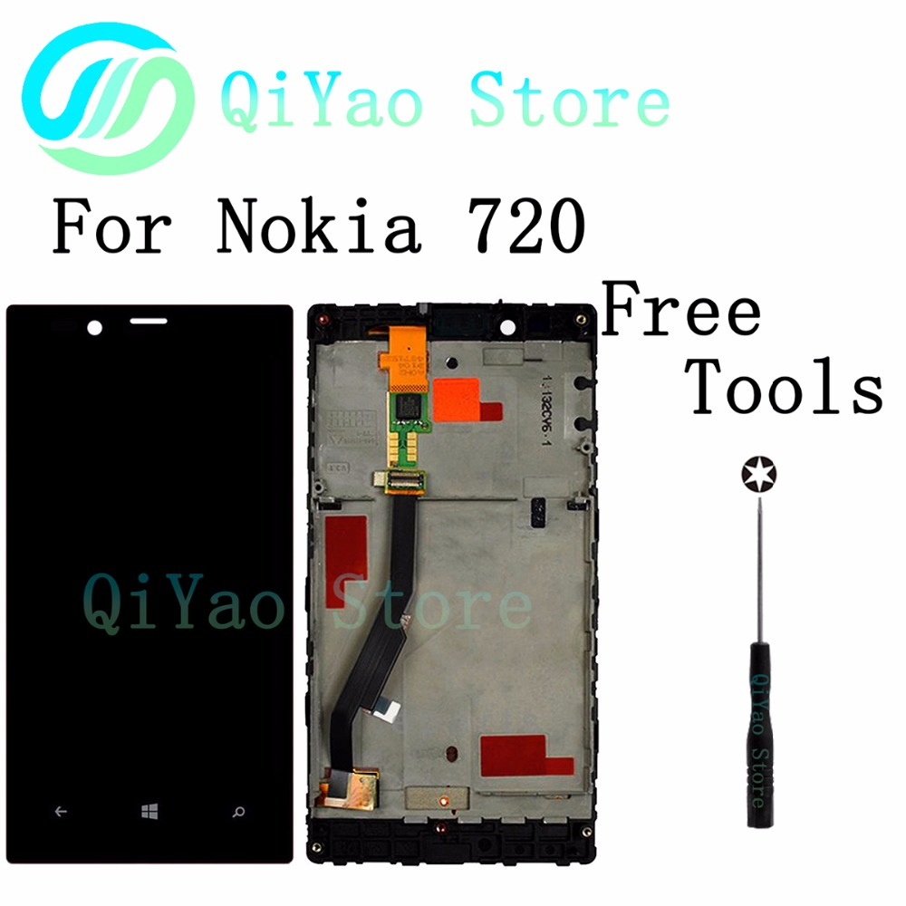 For Nokia Lumia 720 New LCD Display+Touch Screen Digitizer Assembly +Frame<br><br>Aliexpress