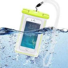 Universal Waterproof Phone Bag Transparent Touchable Pouch Beach Underwater Phone Bag For Samsung S6 S5 iPhone 6/6s Plus