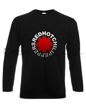 RED HOT CHILI PEPPERS 1 LONG SLEEVE T-SHIRT MENS BLACK FRUIT OF THE LOOM DTG(China)