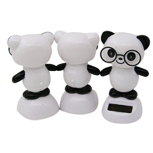 ABWE Solar Power Dancing Figures Panda,Novelty Desk Car Toy Ornament
