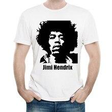 81308cf8de Jimi Hendrix Camiseta Cor Branca Mens Moda Manga Curta T-shirt Tops Tees  tshirt Jimi