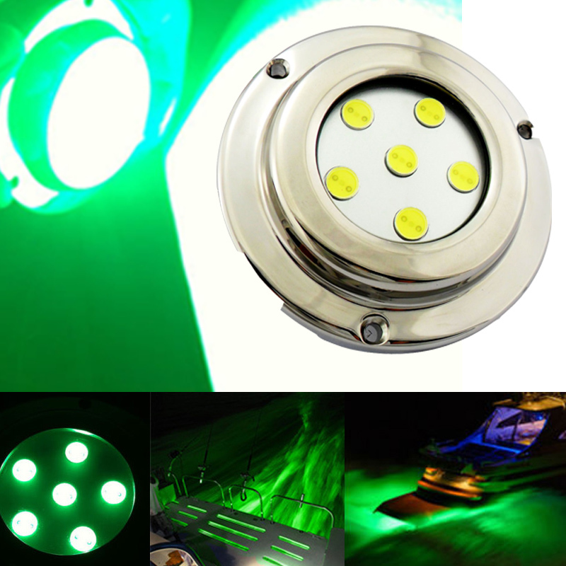 High waterproof IP68 6W Led Underwater Boat Fountain Pool boat Marine led Lights cool green led marine bulbs for boat yacht<br><br>Aliexpress