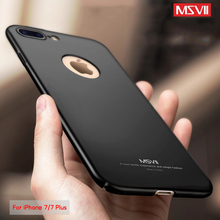 Msvii For Apple iPhone 7 Case For iPhone 7 Plus 7Plus Case Original Luxury 360 Full Protection Frosted PC Hard Back Cover(China)