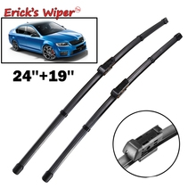 "Erick's Wiper Front Wiper Blades For Skoda Octavia 2013-2017 Typ5E 2016 2015 2014 Windshield Windscreen Front Window 24""+19""(China)"