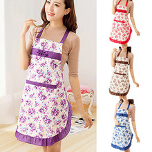 Women's Waterproof Housewife Kitchen Waist Aprons Jeanette Floral