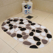 Hot  Antibacterial Beautiful Stone Anti-Slip PVC Bath Mat with Suction Cups Carpet Used for Bathroom 2017