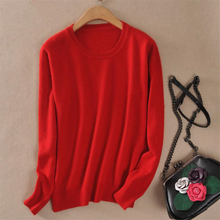 Women Autumn Cashmere Blend Sweater O-Neck Pullovers Virgin Killer Long Sleeve Jumpers Womens Knitted Sweaters 15 Colors S-XXL