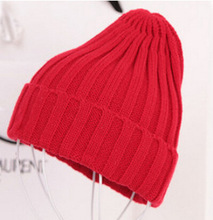 Free Shipping 2017 New Fashion Winter Quality Acrylic Hat Knitted Hat Pointy Hat For Women/Ladies 19 Colors(China)