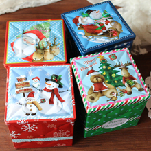 Christmas gift box Creative Macarons candy biscuit tin gift box(China)