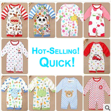 Branded Quality Baby Girl Boy Cotton Rompers Newborn Pajamas Infant Cute Warm Wear Long Sleeve One-Piece Clothes Spring Autumn(China)