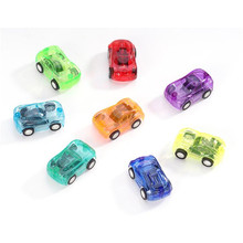 2017 New Kids Funny Toys 10pcs/set Mini Pull Back Cars Toys Plastic Cute Toy Cars for Children Mini Car Model Gift Random Color(China)