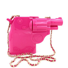 2017 new trend of plastic pistol shape design personalized fashion boxy clutch bag purse party bag well 3 colorsKnucklebox