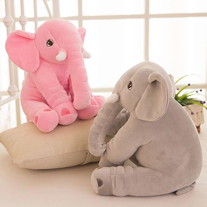stuffed plush toy large 60cm cartoon elephant plush toy soft throw pillow birthday gift b0958<br>