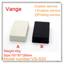 5pcs/lot injection molded case IP54 ABS plastic enclosure box for DIY with customized service 101*61*26mm(China)