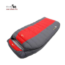 Double Sleeping Bag adult fill 800G 1200G 1600G 2000G tourism camping equipment White duck down camping couples sleeping bag(China)