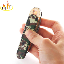 JIJU USB Lighter Army Knife Long and Thin Windproof cigarette Lighter Personality Electronics Gift JL-258V(China)