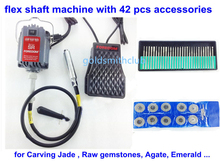 2013 Promotion Jewelry Tools SR Motor Flex Shaft Machine for Carving Jade Raw gemstones Agate Emerald 42pcs Accessories(China)