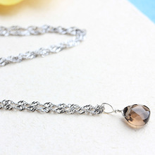 Necklace 2pcs Natural Gems tone Brown Crystal Rock handmade Faceted Retro Trend pendant birthday gift