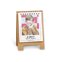 2017 BTS Bangtan Boys kpop V Mini hang desk calendar Celebrity Lovely desk calendar k-pop BTS V photo 12 months 13 pictures