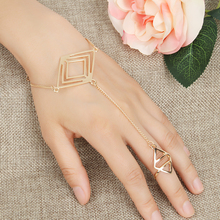 ORP Fashion New fatima finger ring hand chain harness slave women New Multi Chain Punk style Harness Finger Bangles For Women(China)