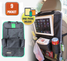 GREEN CAR REAR SEAT BACK ORGANIZER PAD PHONE HOLDER STORAGE BAG HANGER NET TRUCK MESH TRAVEL POCKET Accessories