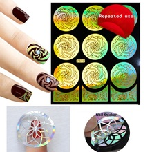 2017 New Design Hollow Nail Stickers Fashion Flower Repeated Use Guide Nail Polish Stickers Decals French Stickers Tips Nail Art