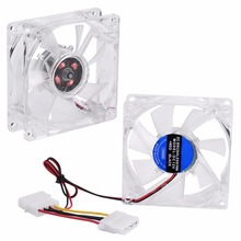80mm LED Light 12V 4Pin CPU Heatsink Cool PC Case Cooling Fan Computer Cooler 2017 practical good quality(China)