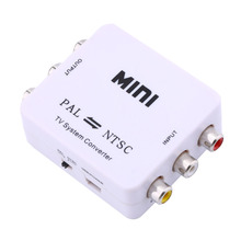 Mini Converter  of PAL to NTSC or NTSC TO PAL Bi-directional Dual-Way TV Format Video System Converter Composite Connection