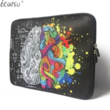 iCasso Left and Right Brain notebook bag laptop case sleeve  for Apple macbook Air Pro Retina 13 15 inch macbook computer bag