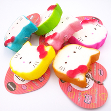 NEW 40pcs/Lot, 6CM PU corful Kawaii rare hello kitty Squishy Cell Phone Charm with tag(China)