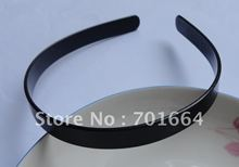 10PCS 14mm black plain plastic flat hair headbands without teeth for DIY hair accessories  at Free Shipping