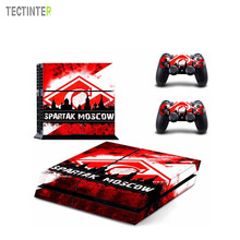 Football Club Spartak Moscow Vinyl Skin Sticker for Sony PS4 Console and 2 Controllers Decal Cover Game Accessories(China)