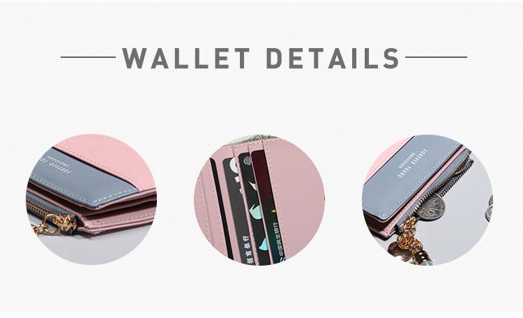 PU Leather,wallet female,wallet female women zipper,Fashion,Casual,Vintage,Black,Red,Brown,Blue,Pink wallet female leather (3)