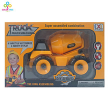 DIY Model Toy Truck Heavy Engineering Mixer Agitating Lorry Car Best Selling Kid Gift